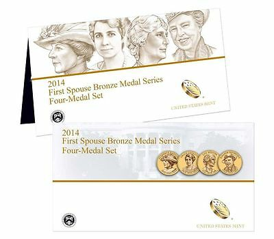 2014 First Spouse Lady Bronze Medal Set Series U.S. Mint-Gold Coin Reproduction