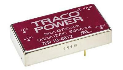 TRACOPOWER TEN 10-4812 Isolated DC-DC Converter, Vin 36-72V DC, Vout 12V DC