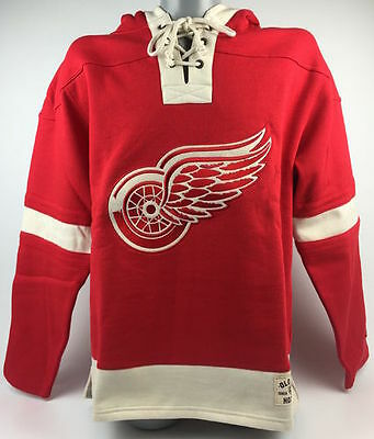 Detroit Red Wings NHL Old Time Pulover Hoodie