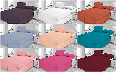❤PLAIN FITTED VALENCE SHEETS❤ Dyed Solid Colour Cover Sheet Cover  PolyCotton