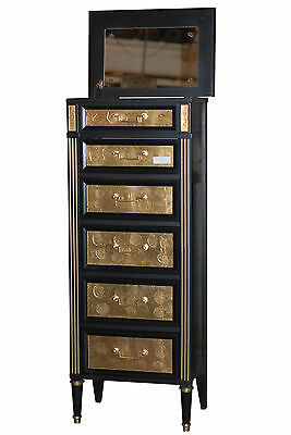 Jansen Black & Gilted Lingerie Drawer Chest   102-8272