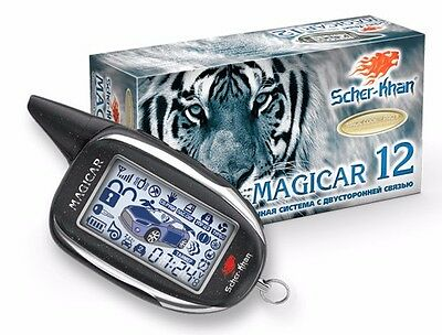 SHER-KHAN Magicar 12 car alarm 2000m autostart 434 MHz CAN-bus K-Line Slave-mode