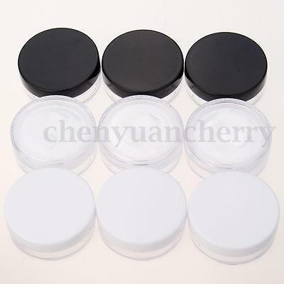3Pcs Empty Cosmetic Jars Pots With Powder Sifter Loose Powder Container Set 20g
