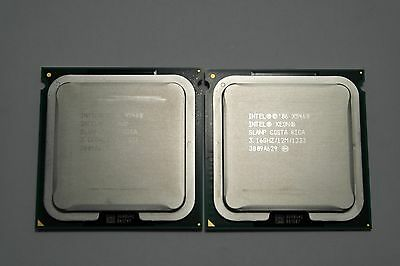 Matched pair of Intel Xeon X5460 3.16 GHz Quad-Core SLANP Processor w/Grease