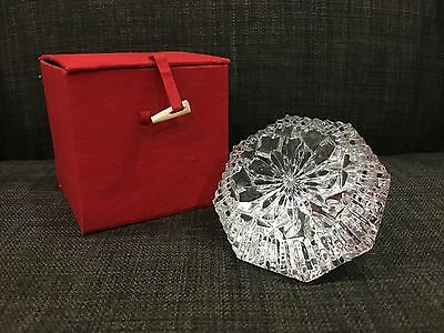 Waterford Lismore Diamond Shape Paperweight With A Red Box