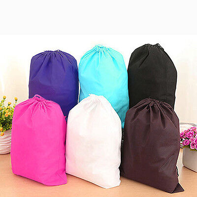 Home Laundry Shoe Travel Portable Pouch Drawstring Tote Storage Bag Organizer