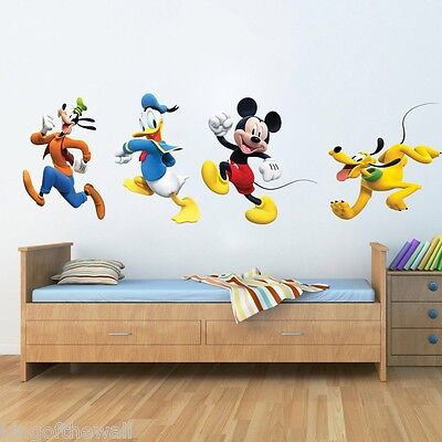 Disney Wall Sticker Decal Baby Kids Room Wall Mural Art Micky Mouse and friends