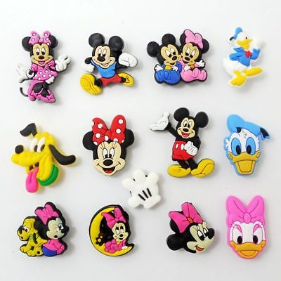 Mickey and Minnie Mouse Shoe Charms for Bracelets/Bands/Clog/Jibitz 16pcs