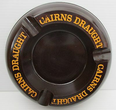 Cairns Draught Beer round plastic cigarette ashtray for home bar pub collector