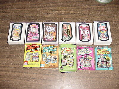 Wacky Packages Complete Sets of ANS 1 2 3 4 5 6 Series 1-6 With 5 Wrappers