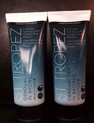 2 * ST TROPEZ Gradual Tan in Shower Lotion - Golden Glow Medium 200ml