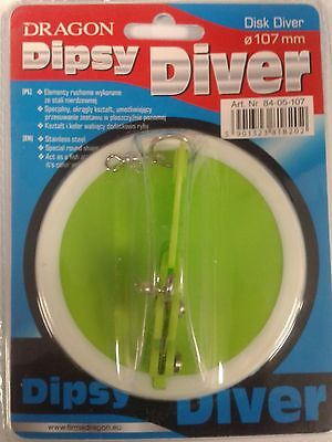 Dipsy Disc Diver diameter 107mm,  deep trolling sea fishing tackle marine boat