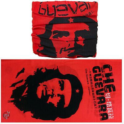 Che Guevara Flag Cuban Balaclava Neck Warmer Tube Snood Scarf Bandana Face Mask
