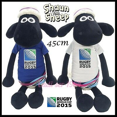 Shaun The Sheep Rugby 2015 World Cup Mascot White & Blue Large 45Cm Get Both New