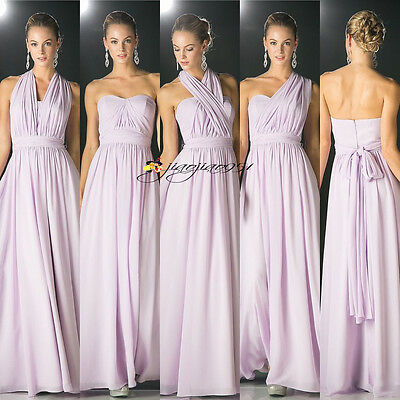 STOCK Long Formal Convertible Bridesmaid Gown Evening Ball Party Prom Dress 6-22