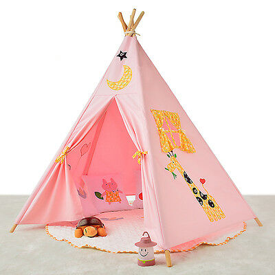 2016 Kids Play Tent large tipi teepee tepee Tent Girl Pink Princess Castle