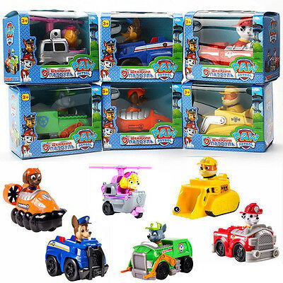 HOT Cute Paw Patrol Pup Dog Car Racer Figures Doll Kids Children's Toy Xmas Gift