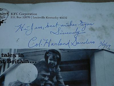 KFC Bucket Vol.19 No.1 25 Years Of Service Col. Harland Sanders Signed 3/20/77