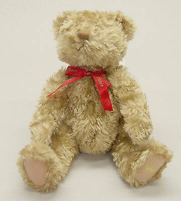 "Hallmark 13"" Plush 100 Year Anniversary Tan Teddy Bear.  Excellent Condition"