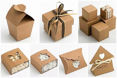Luxury DIY Wedding Favour Gift Boxes Natural Vintage Shabby Chic Kraft RUSTIC