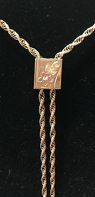 Antique Victorian Watch Chain With Slide 12K Gold Filled