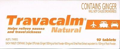 = Price Smash Genuine Travacalm Natural 10 Tablets For Nausea&travel Sickness