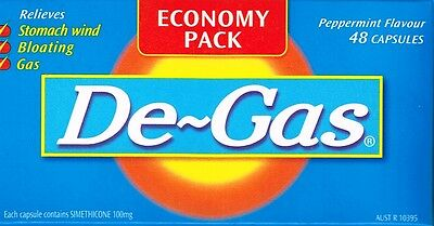 => Price Smash De Gas 48 Capsules  Relieves Wind, Flatulence, Bloating & Farts