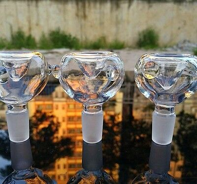 14mm / 18mm Round Glass Bowl Clear