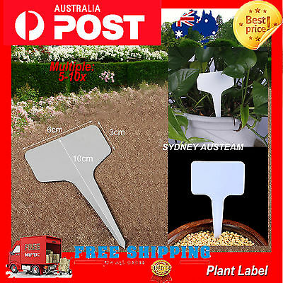 Plant T-type Tags Markers Nursery Garden Labels Gray Plastic