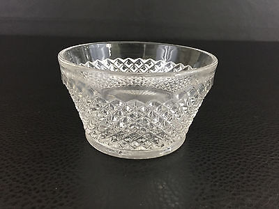 vintage English Hobnail clear glass bowl Westmoreland Glass Co. 1930's 1940's