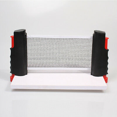 Outdoor Sport Retractable Portable Table Tennis Net Rack Ping Pong Kit Replace