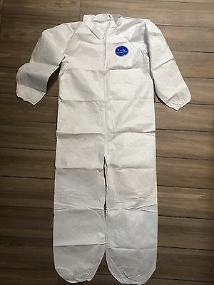 DuPont Tyvek Small safety WHITE COVERALL SUIT Disposable Painter Elastic overall
