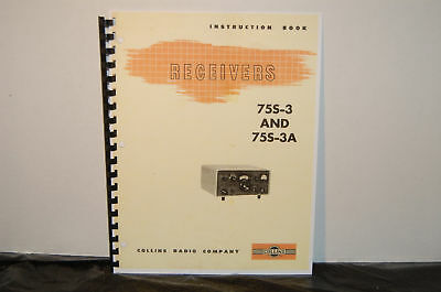 Manual For Collins 75S-3 75S-3A  Receiver