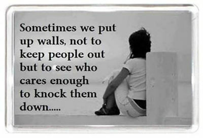 Wall Knock Down Care Keep Out Friend Quotes Saying Gift Novelty Fridge Magnet