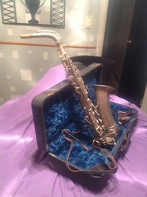 Vintage Continental Clarion Saxophone Made In USA Pat Appd For A 9297 L