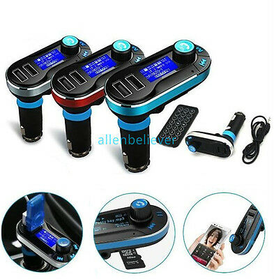 Bluetooth Car Kit MP3 Player FM Transmitter SD LCD Dual USB Charger USA SELLER