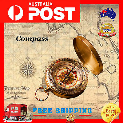 Camping Compass Portable Outdoor Classic Pocket Watch Bronzing Hiking Luminous
