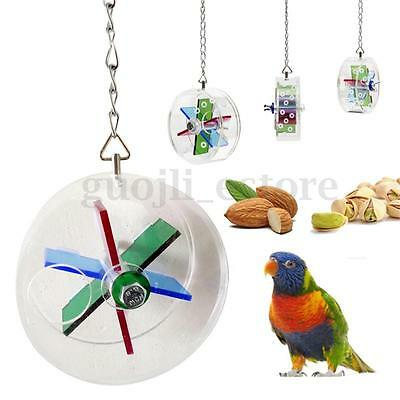 Wheel-shaped Pet Bird Toys Parrot Canary Hanging Foraging Entertainment Toys
