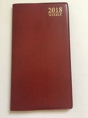 2017 Weekly Dated Planner Calendar Agenda Appointment Book 8X10 BURGUNDY Scaled