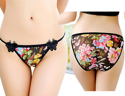 Thongs Lingerie G-string Briefs Floral Lady Women Lace Panties Underwear