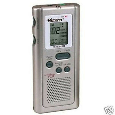 Lot of 10 Memorex MB2054 Voice Recorder 4 hours w/ built-in Speaker.