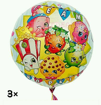 SHOPKINS BIRTHDAY PARTY Supplies Pack (Banner, Wall Poster, Swirl ...