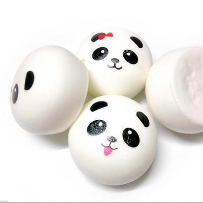 4Pcs Cellphone Straps Smell Charms Randomly Panda Squishies Kawaii Buns Bread