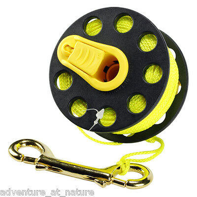 Aquatec Underwater Scuba Diving Wreck Reel With Handle And Line 50M WR-03H