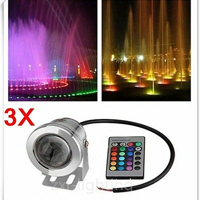 10w 12v rgb led ext rieur lampe spot projecteur luminaire. Black Bedroom Furniture Sets. Home Design Ideas