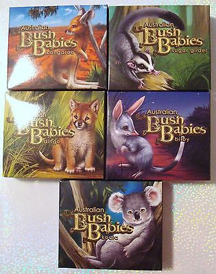Australia Bush Babies 5 Coin Complete Collection .999 Silver Proof Set PERTH