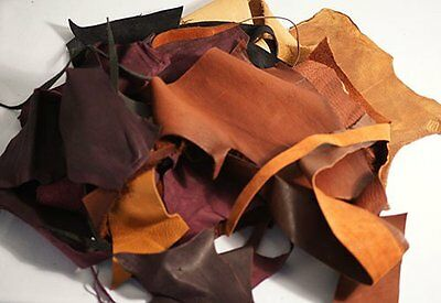 MULTI COLOURED LEATHER OFF CUTS-SCRAPS Perfect for any Craft Project 250g Pack