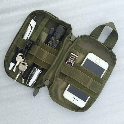 Molle Tactical Waist Belt Fanny Pack Phone Carry Pouch Bag For Camping Hiking