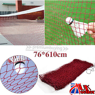 UK Professional 20' Standard Training Badminton Net 6.1m X 0.79m Outdoor Sports