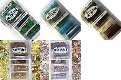 Stampendous Encrusted Jewel Kit Embossing Powders Glass Glitters Mica Fragments